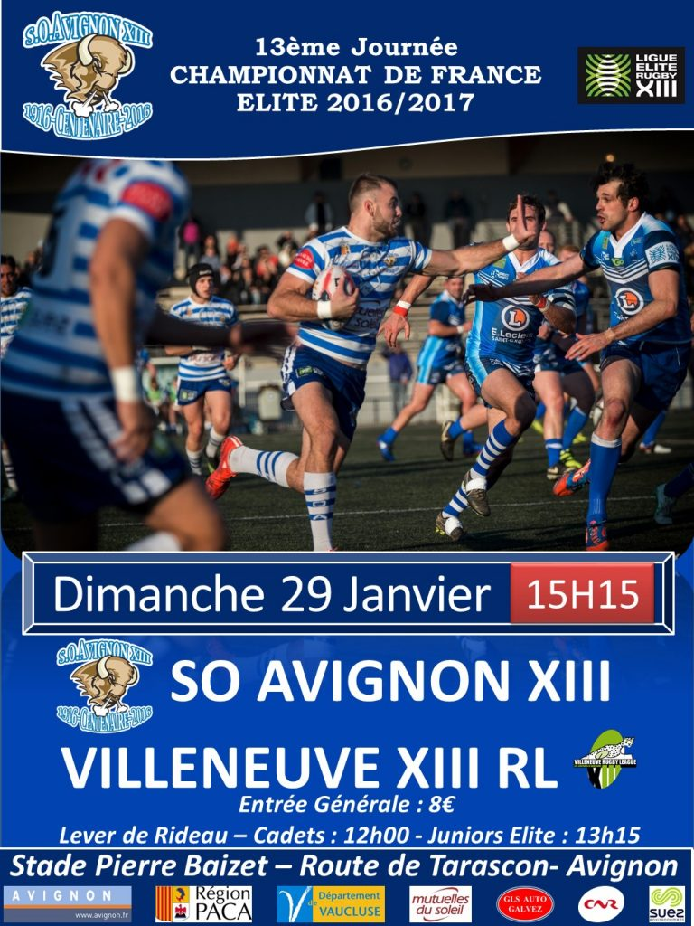 Affiche matchs Villeneuve 2017