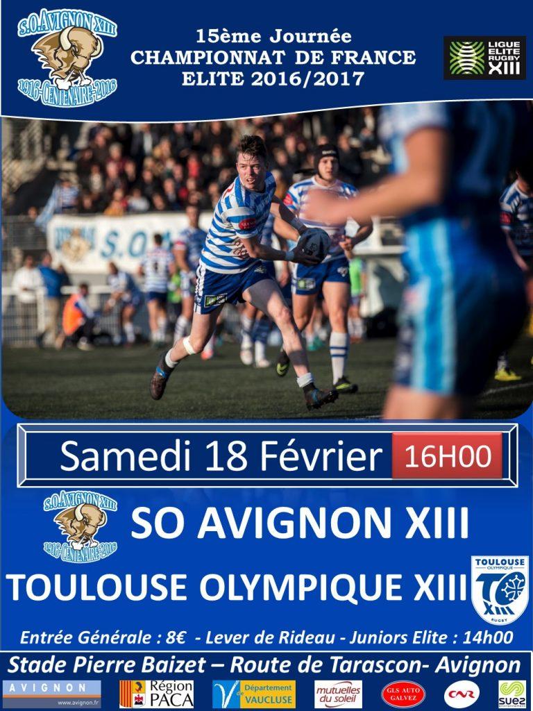Affiche matchs Toulouse 2017