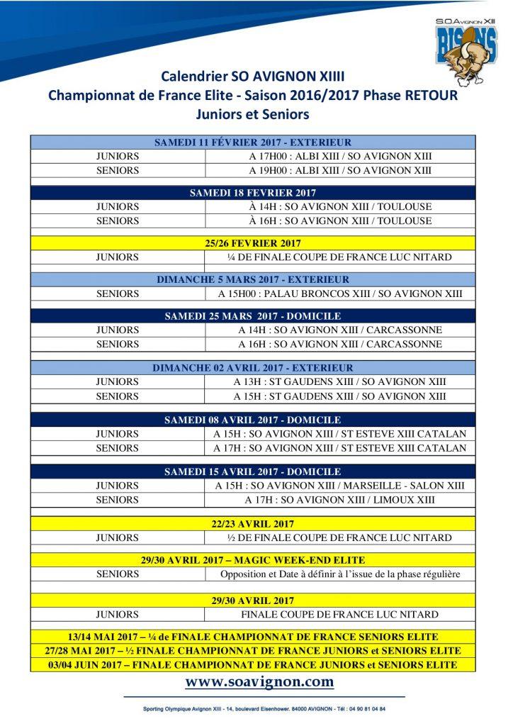 Calendrier Matchs à domicile SOA XIII 2016-2017 Phase Retour-001