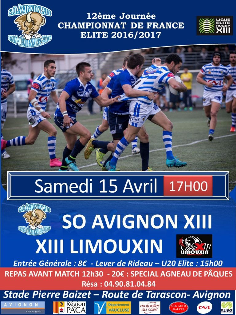 Affiche matchs Limoux XIII 2017