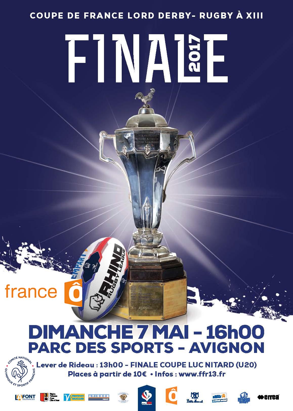 La finale de la coupe de france 2017 sur france t l vision sporting olympique avignon xiii - Coupe de france direct tv ...