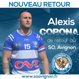 Alexis Corona de retour au parc des sports