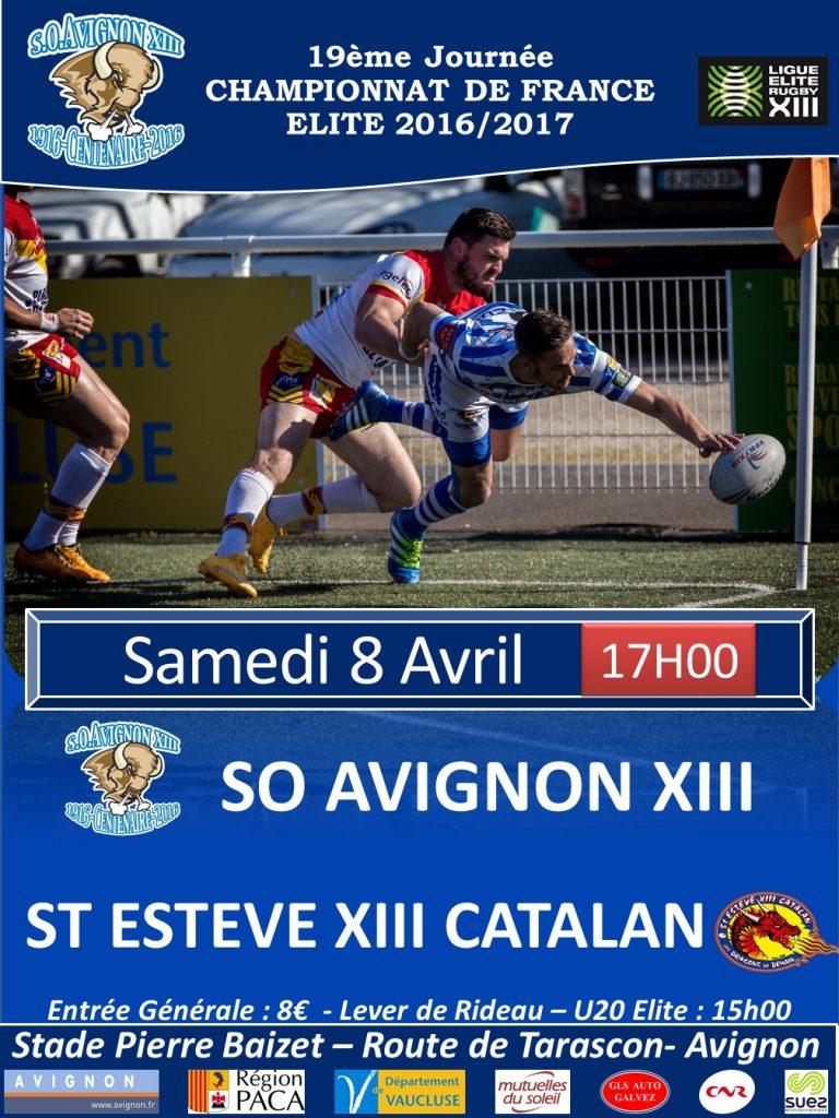 Affiche matchs St Esteve XIII Catalan 2017