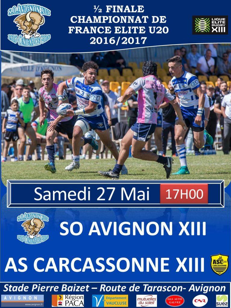 Affiche matchs 1-2 de Finale Juniors 2017