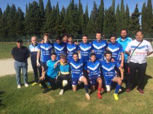 Photo d'équipe ce week-end à Carcasonne pour nos U17