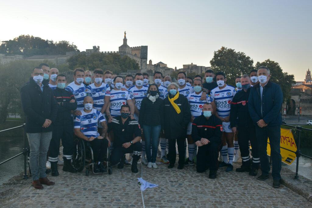 Les rugbymen du SO Avignon sont aux cotés des pompiers du SDIS 84 et des bénévoles du téléthon